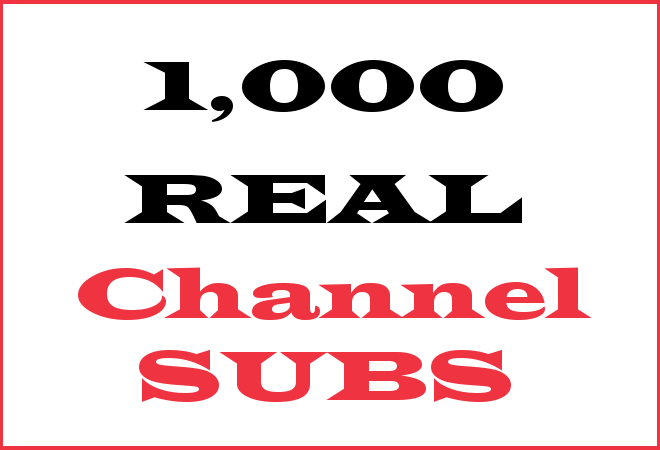 1K Channel Subscribers – INFO HERE