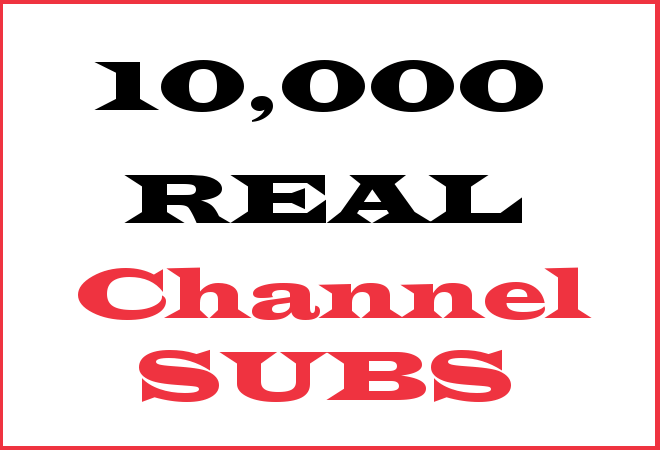 10K Channel Subscribers – INFO HERE